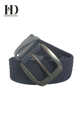 Men's Elastic Fabric Braided Belt in Black
