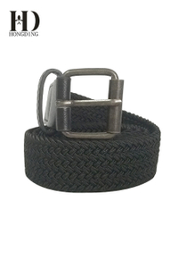 Men's Elastic Braided Belt With Gun Buckle