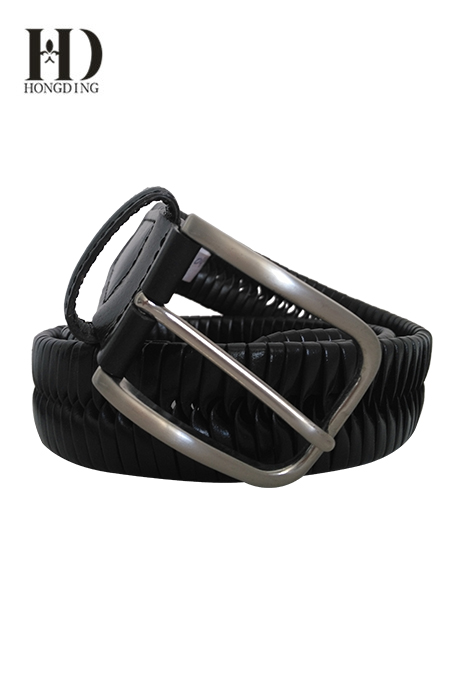 Mens black braided leather belts wholesale