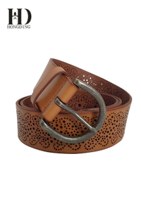 Womens Leather Belts with laser surface