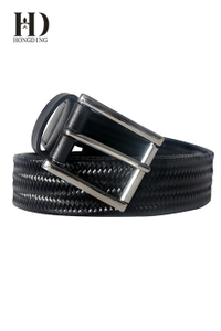 Men's Braided Belt with Metal Rings