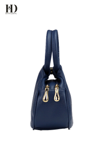 HongDing Blue Mini High Quality PU Leather Handbags For Women