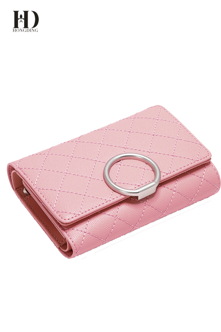 Metal Style PU Leather Wallets For Women