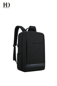HongDing Black Oxford Fabric Chargeable Backpacks with Large Capacity for Men