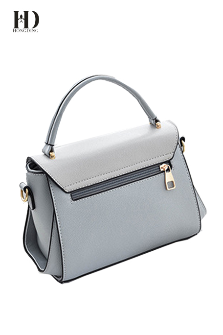 HongDing Splicing Color Block PU Leather Handbags Shoulder Bags For Women