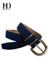 Blue vegan leather belts for women