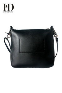 Black leather shoulder bag