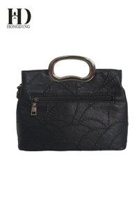 Ladies PU Fashion Black Handbag