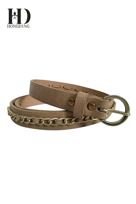 Womens chain belts with pu strap